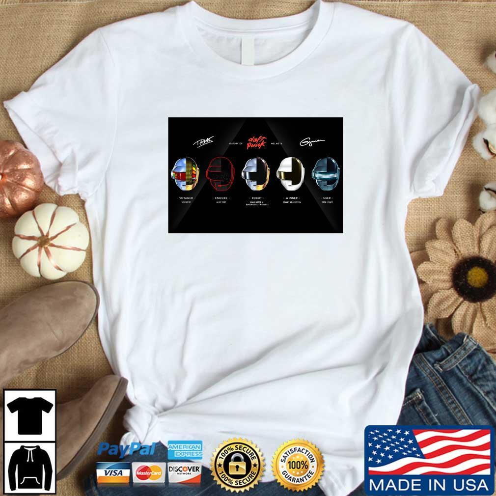 Daft Punk Voyager Encore Robot Winner User Shirt