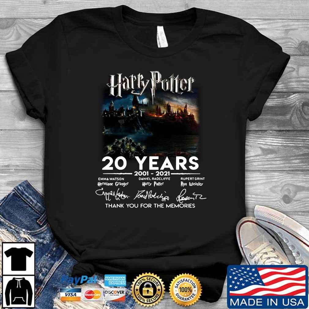 Harry Potter 20 years 2001-2021 thank you for the memories signatures shirt