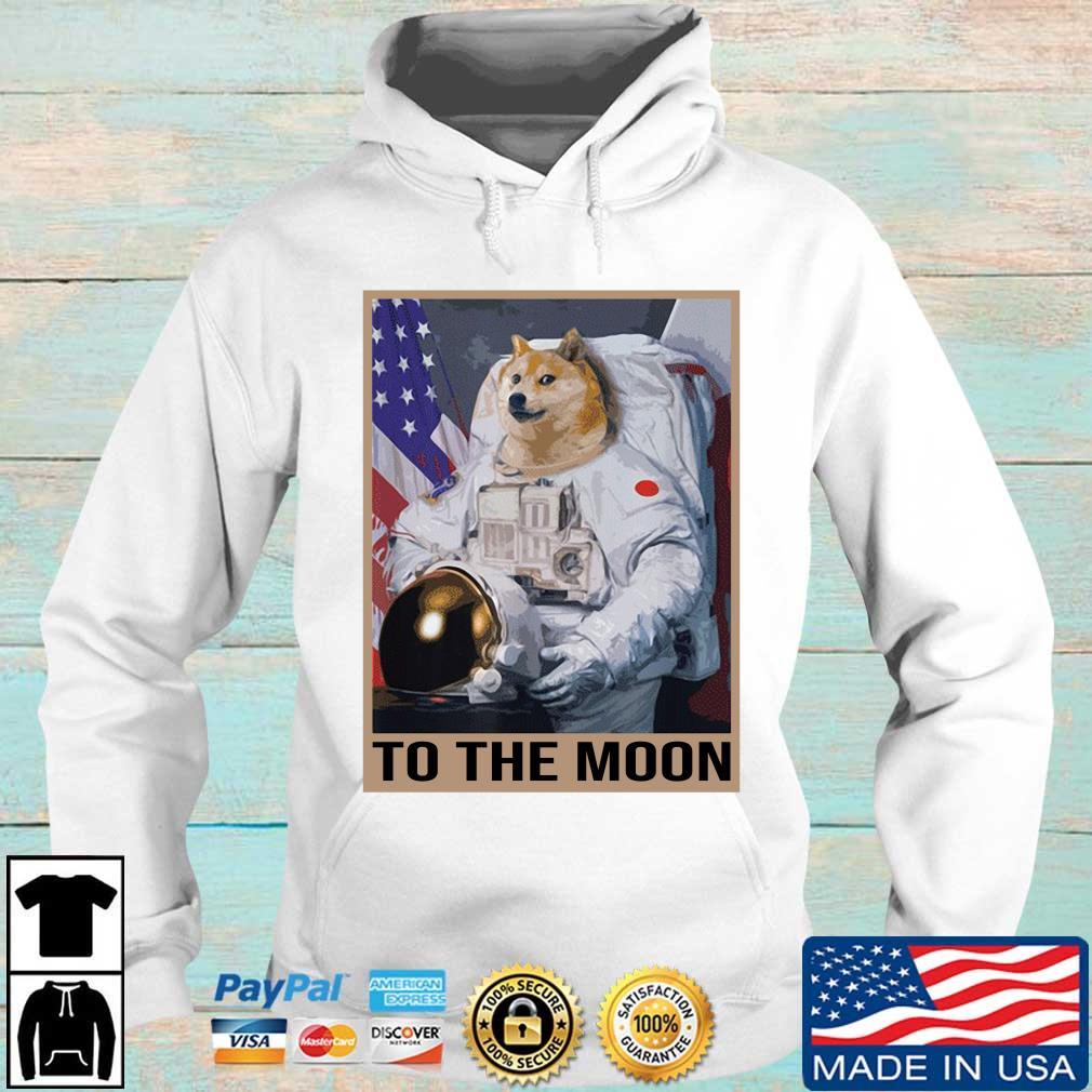 Dogecoin Astronaut To the Moon Blockchain HODL Crypto Shirt Hoodie trang