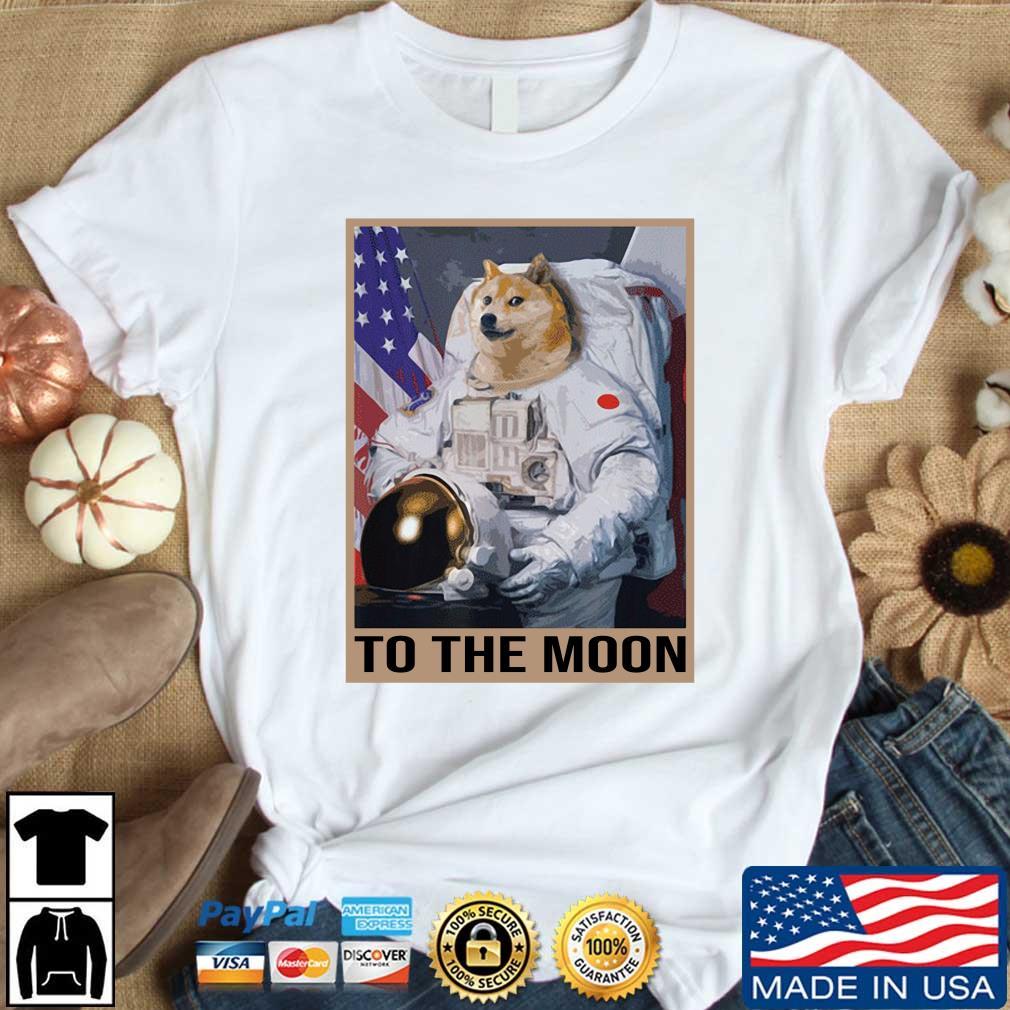 Dogecoin Astronaut To the Moon Blockchain HODL Crypto Shirt