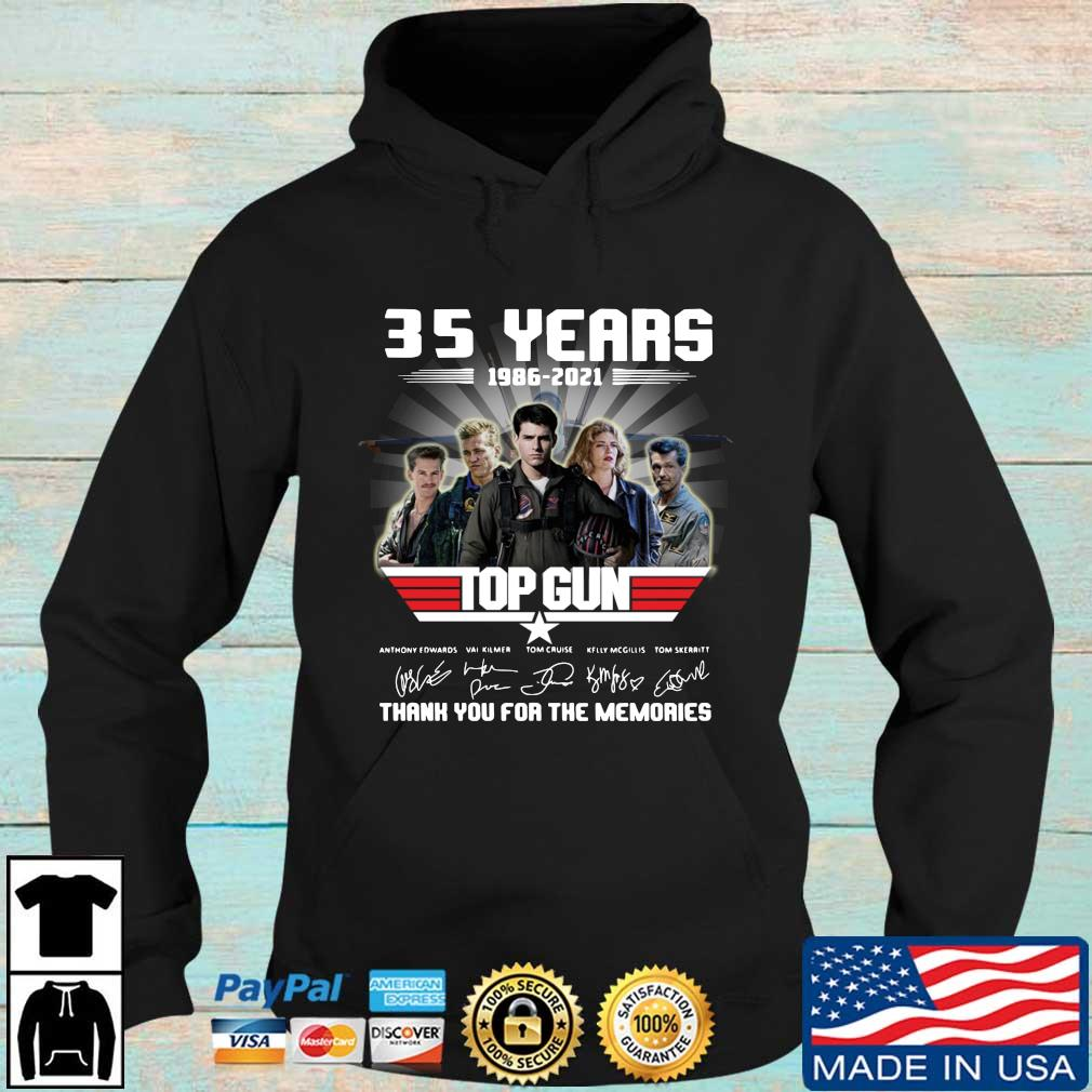 Official 35 years 1986-2021 Top Gun thank you for the memories signatures s Hoodie den