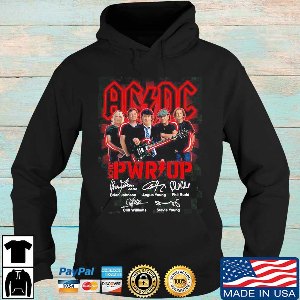 ACDC Pwr up signatures s Hoodie den