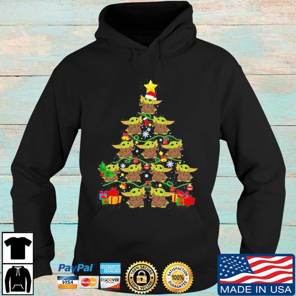Baby Yoda Merry Christmas tree s Hoodie den