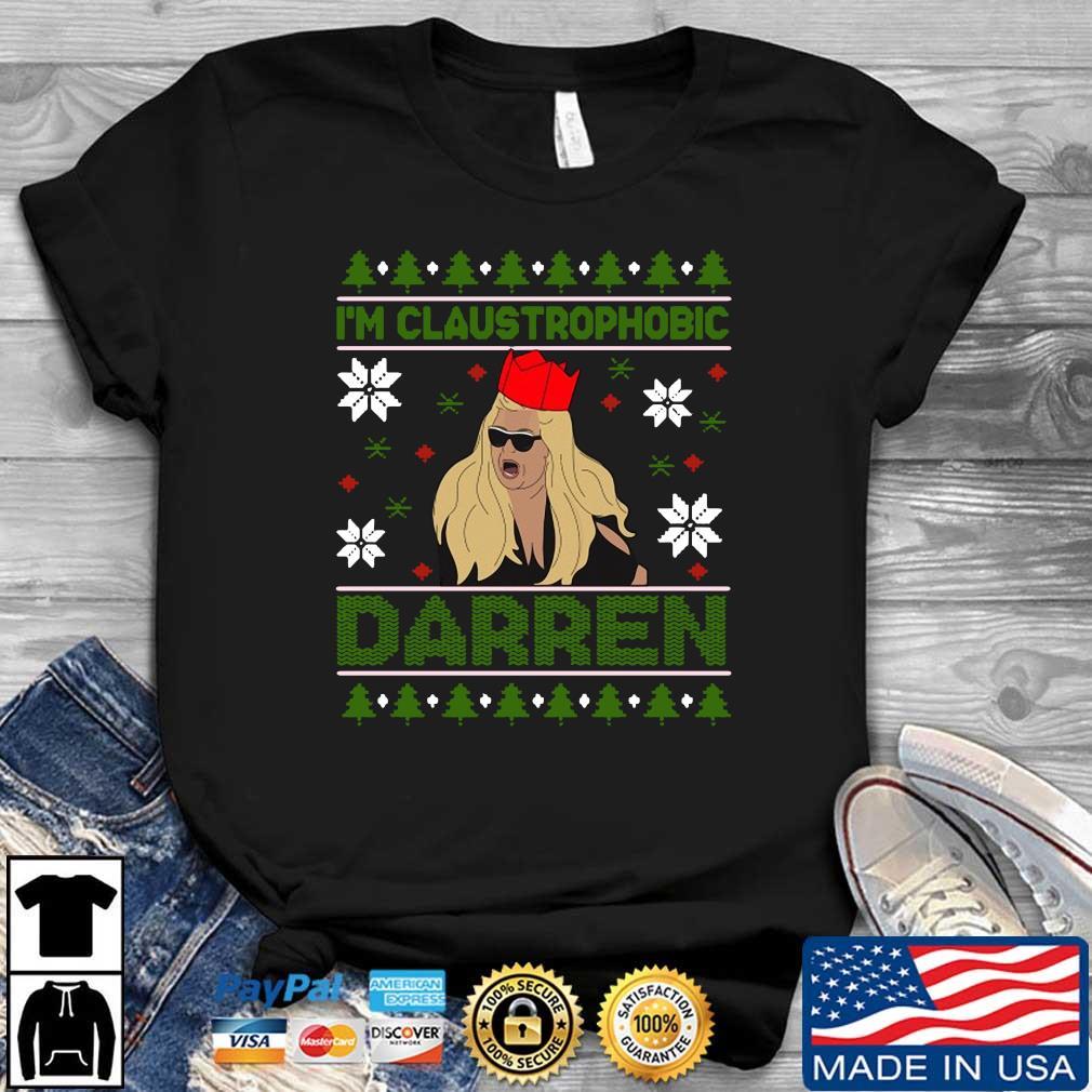 Official Santa Gemma Collins I_m claustrophobic Darren Christmas Sweatshirt