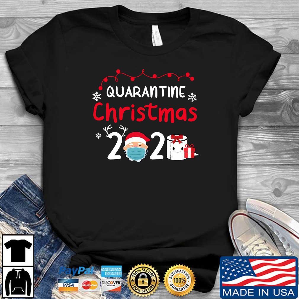 Quarantine Christmas 2020 Santa mask toilet paper shirt