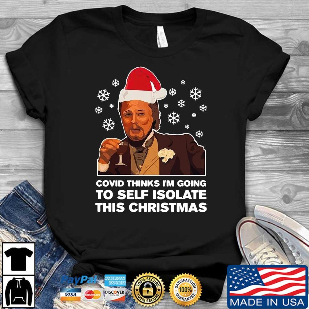 Santa Leonardo DiCaprio Covid thinks I_m going to self isolate this Christmas hoodie