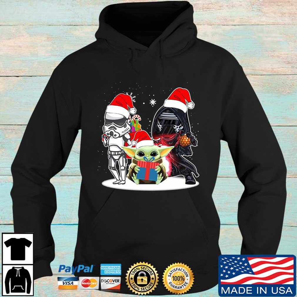Star Wars Mandalorian Baby Yoda Darth Vader and Stormtrooper Christmas s Hoodie den
