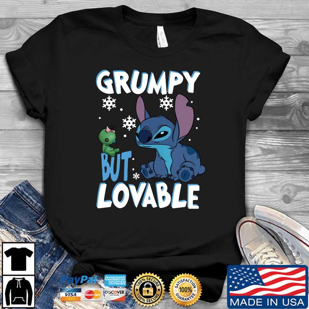 Stitch Grumpy But Lovable Christmas shirt