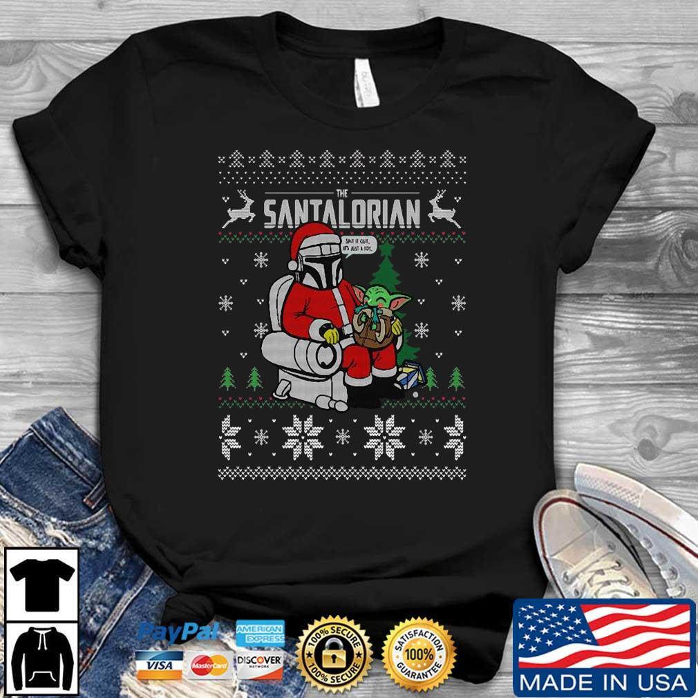 The santalorian and Baby Yoda Ugly Christmas shirt