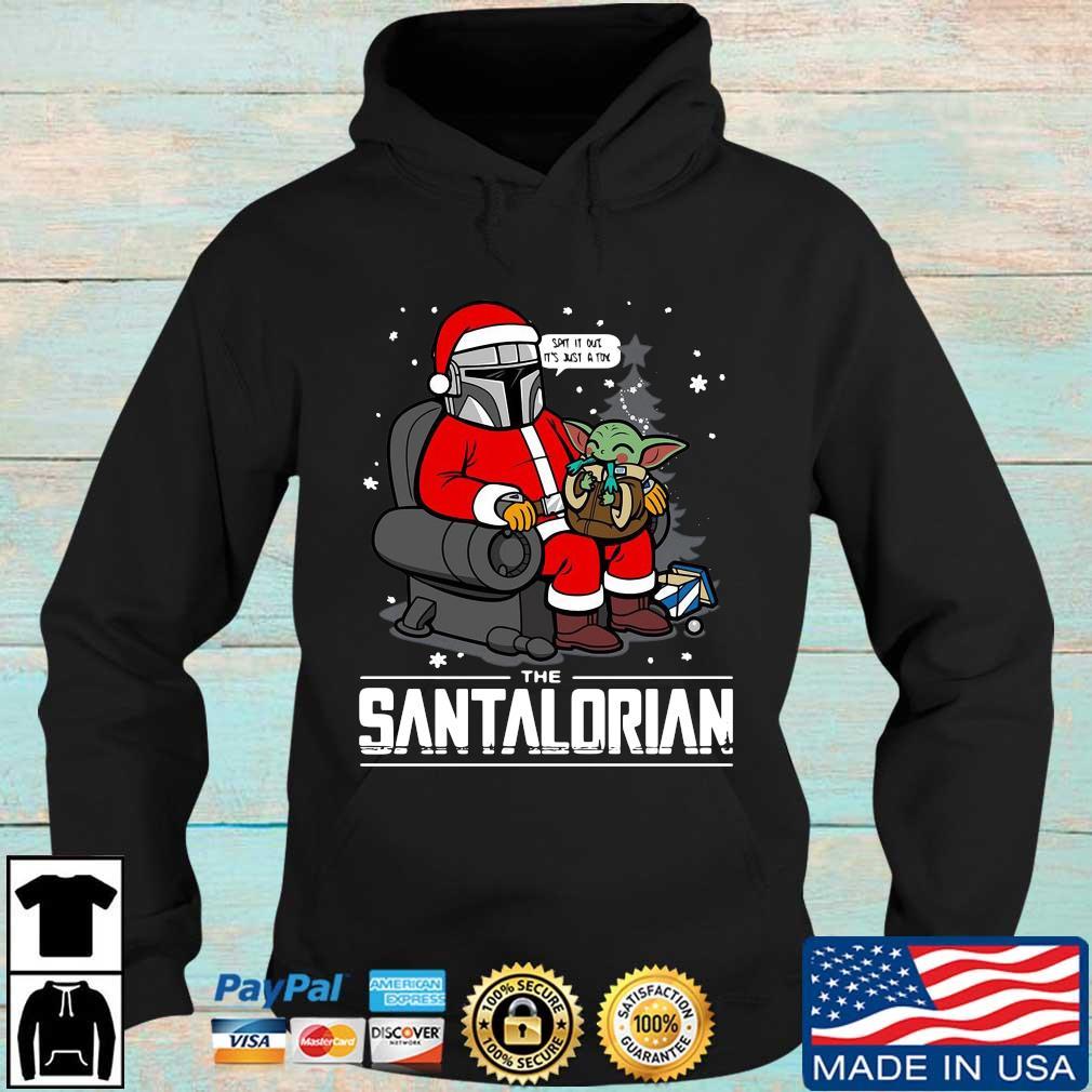 The Santalorian Santa Mandalorian Hug Baby Yoda Christmas sweater, s Hoodie den