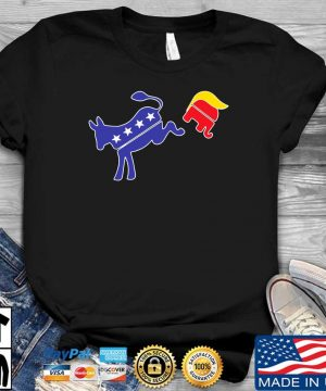 Biden donkey kick Trump elephant shirt