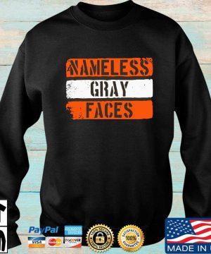 Nameless gray faces s Sweater den