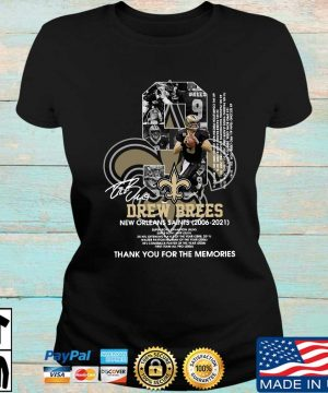 Official 9 Drew Brees New Orleans Saints 2006-2021 thank you for the memories signature s Ladies den