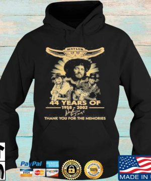 Official Waylon Jennings 44 Years Of 1958 2020 Signature Thank You For The Memories T-Shirt Hoodie den