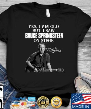 Yes I am old but I saw Bruce Springsteen on stage signature sweater
